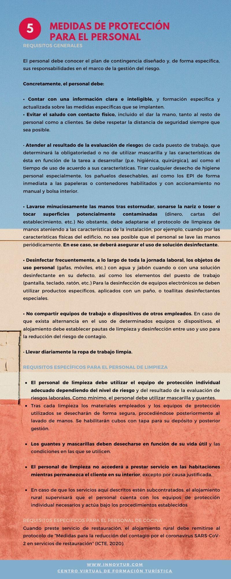 Infografia requisitos para la gestión del riesgo. Turismo rural