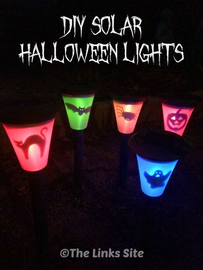 Why Go Out And Buy Halloween Lights When You Can Make You Own Solar Ones I Show You How To Make Your Existing Solar Lights Creepy For Halloween