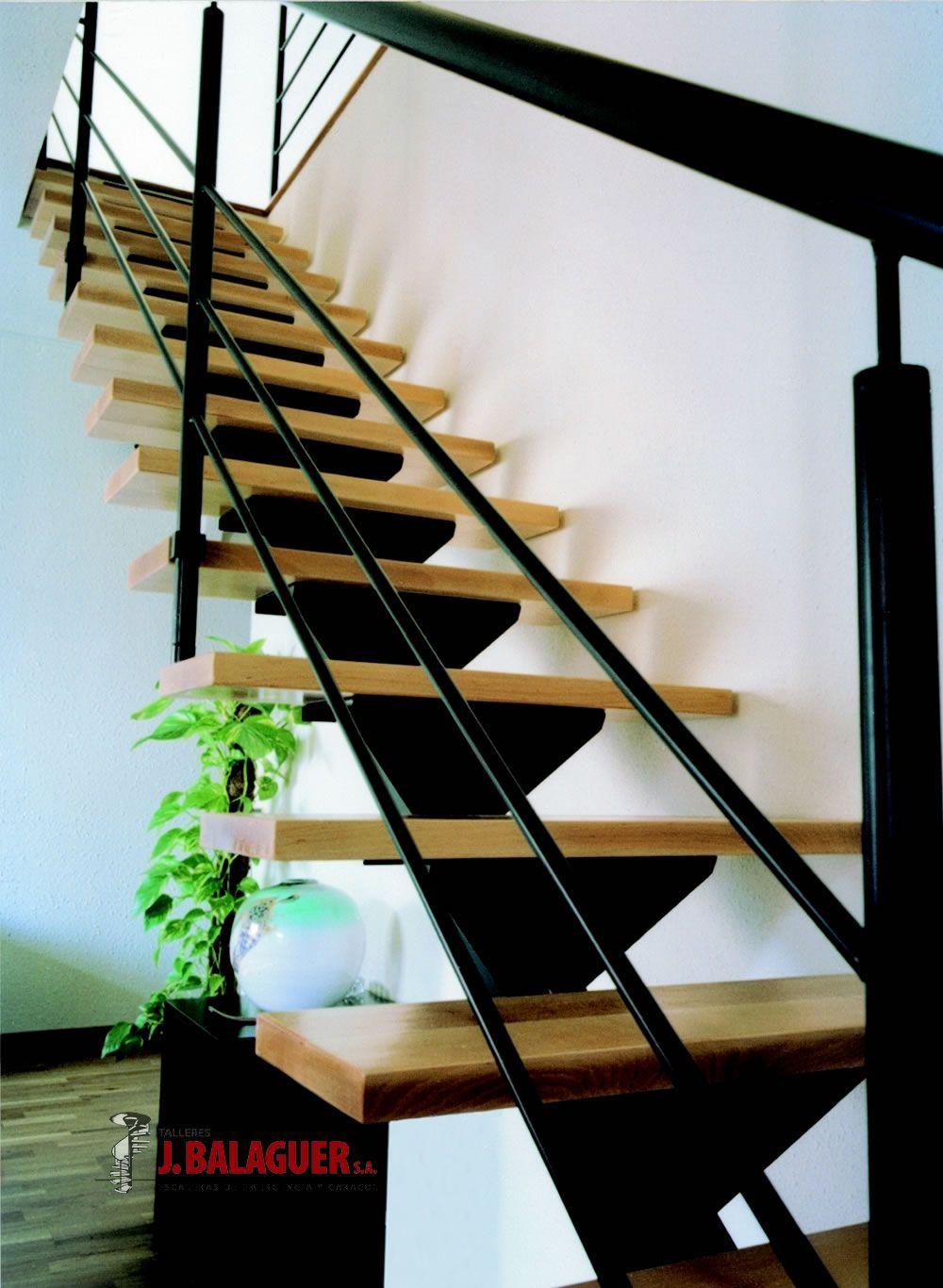 Pin De Lenka Lekuba En Escaleras Pinterest Escalera Cable Y  ~ Escaleras Prefabricadas De Madera