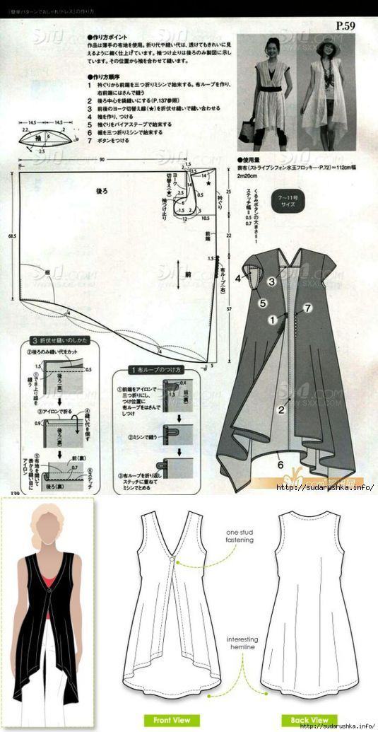 Выкройка юбки в стиле бохо для полных