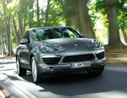 Fuel consumption in l/100 km (mpg)* Cayenne S Diesel: combined 8.3 (34.0) • CO2 emissions: 218 g/km