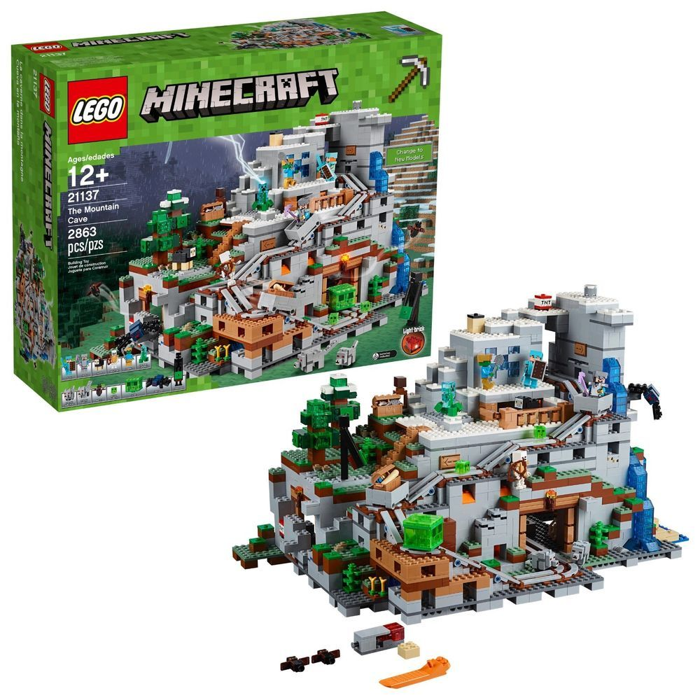 Lego Minecraft Building Toy For Kids The Mountain Cave Set Big Hot