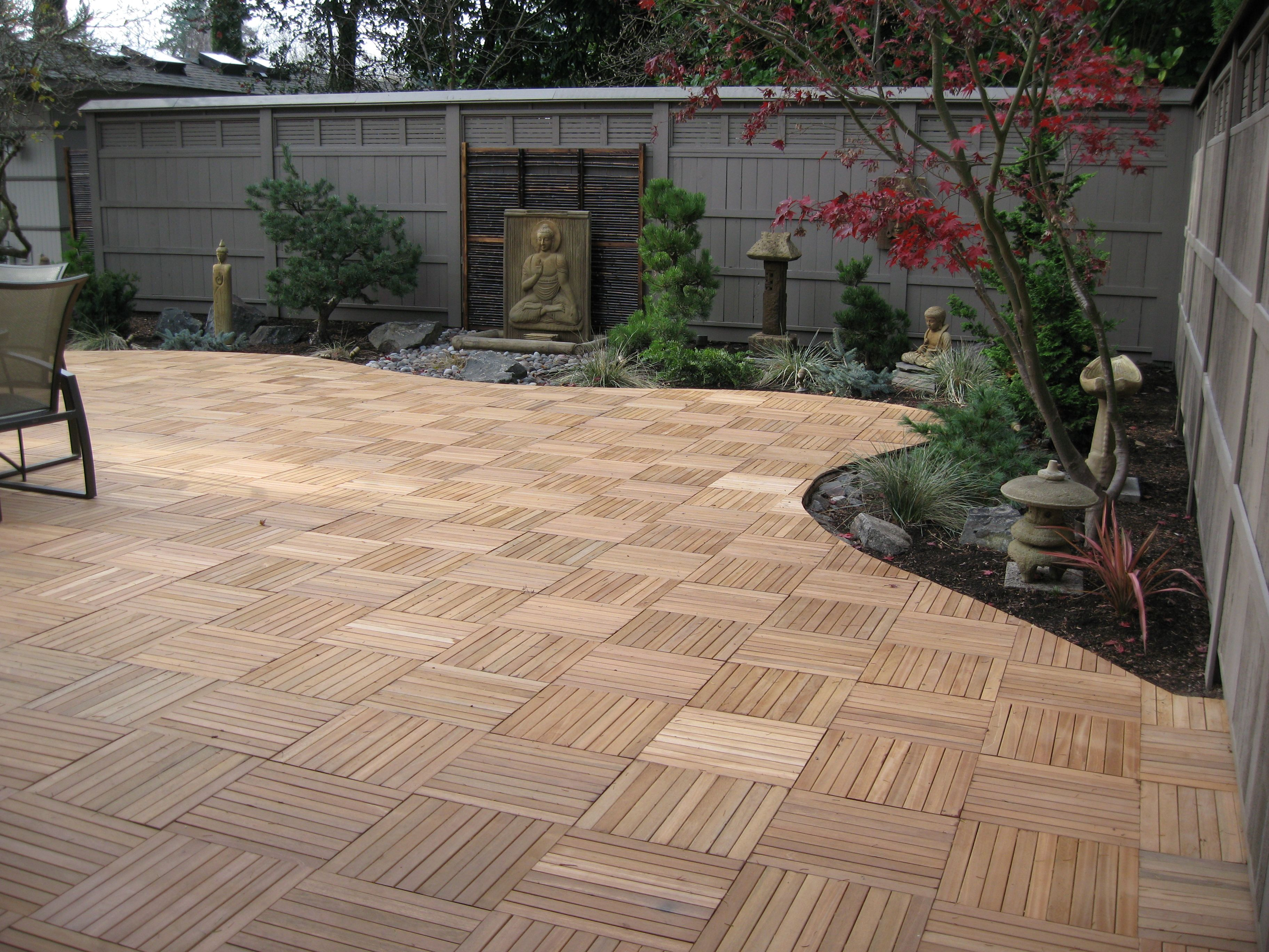 Builddirect Kontiki Interlocking Wood Deck Tiles Real Wood Xl