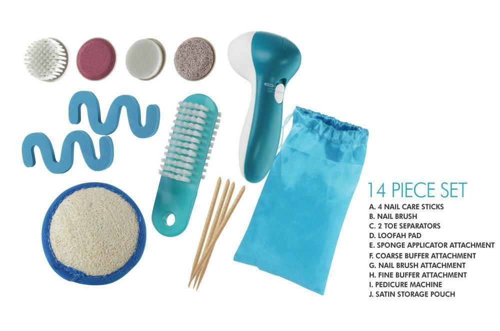 14 Piece set manicure Pedicure Kit Brush Spa System