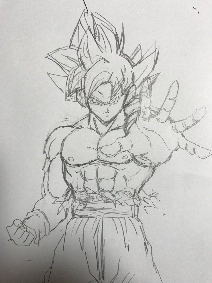 Youngjijii Youngjijii Twitter Goku Dibujo A Lapiz Dibujo De Goku Goku A Lapiz