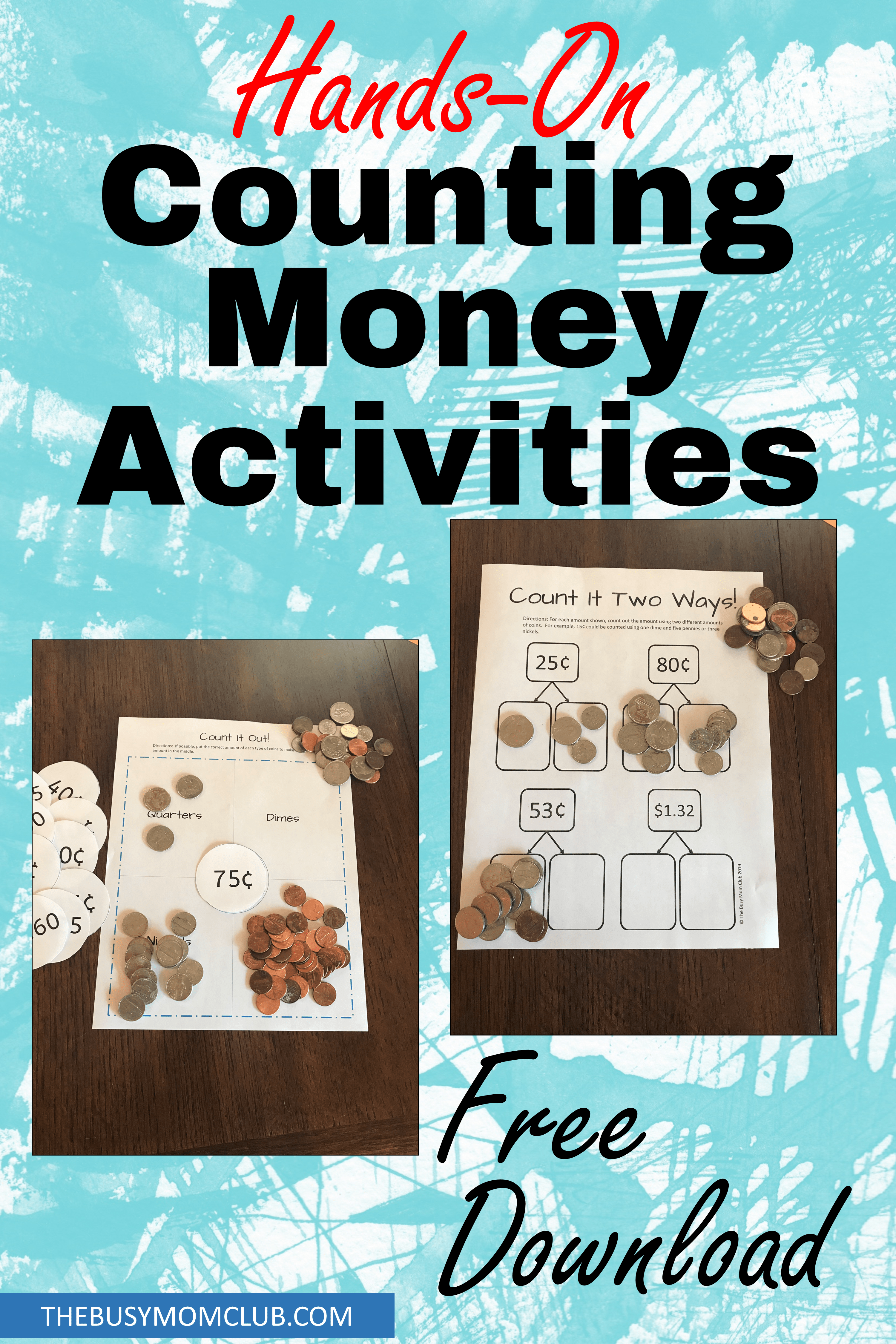 Hands On Counting Money Activity Templates