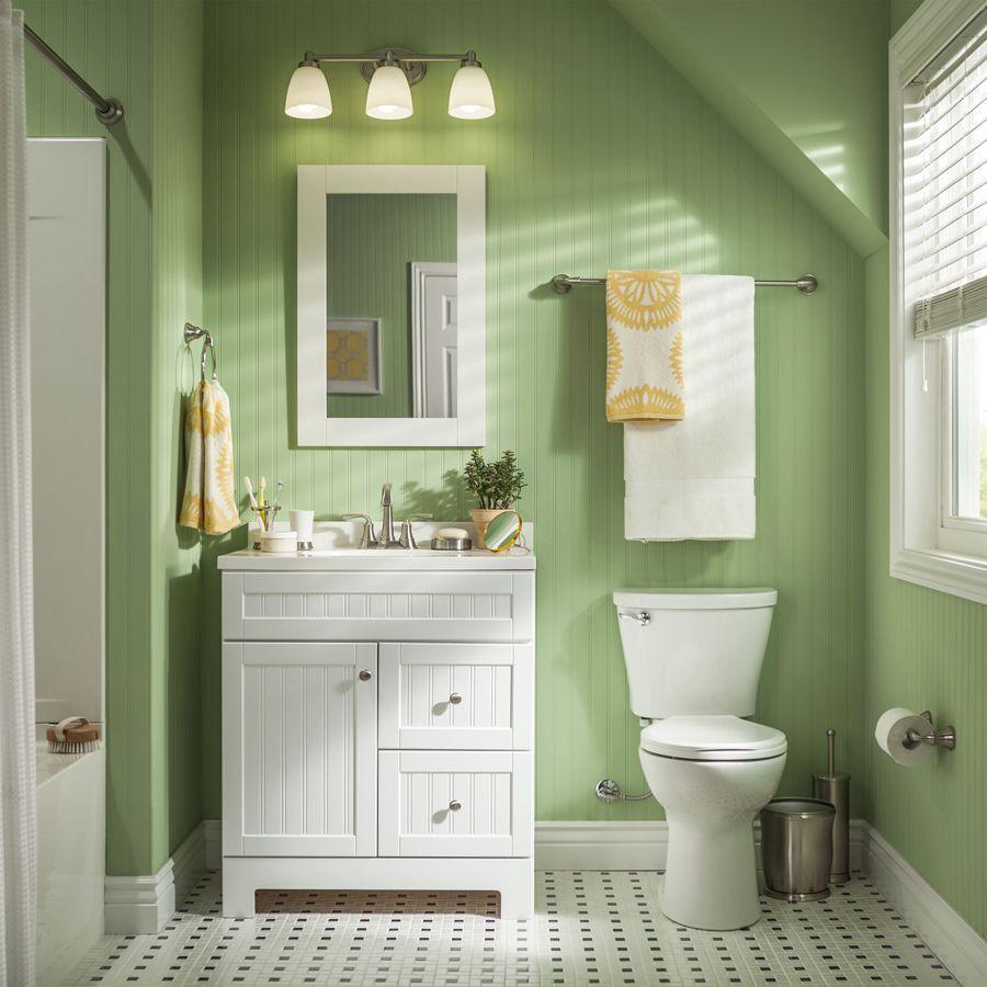 shop style selections ellenbee white integral single sink bathroom rh pinterest com