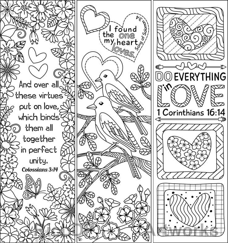 pin on coloring bookmarks