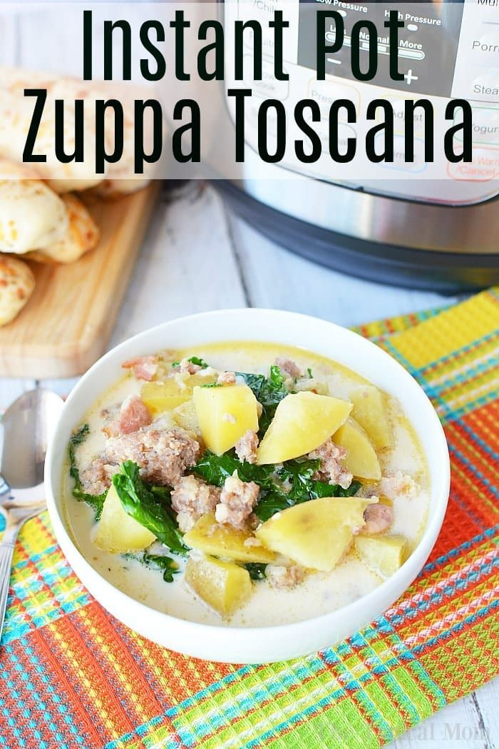This pressure cooker Zuppa Tuscana recipe is similar to