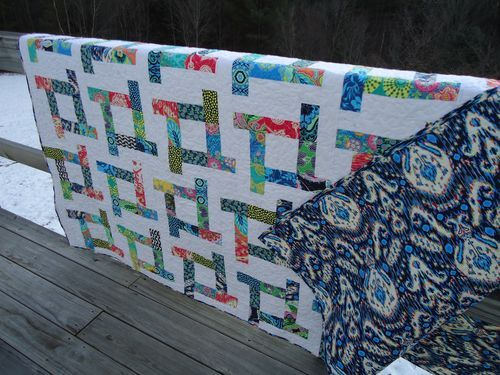 Nice quilt for using jelly roll or scrap strips