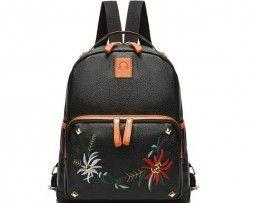 e2a23df3e Dámsky ruksak s potlačou v čiernej farbe3 | kožené ruksaky z pravej kože