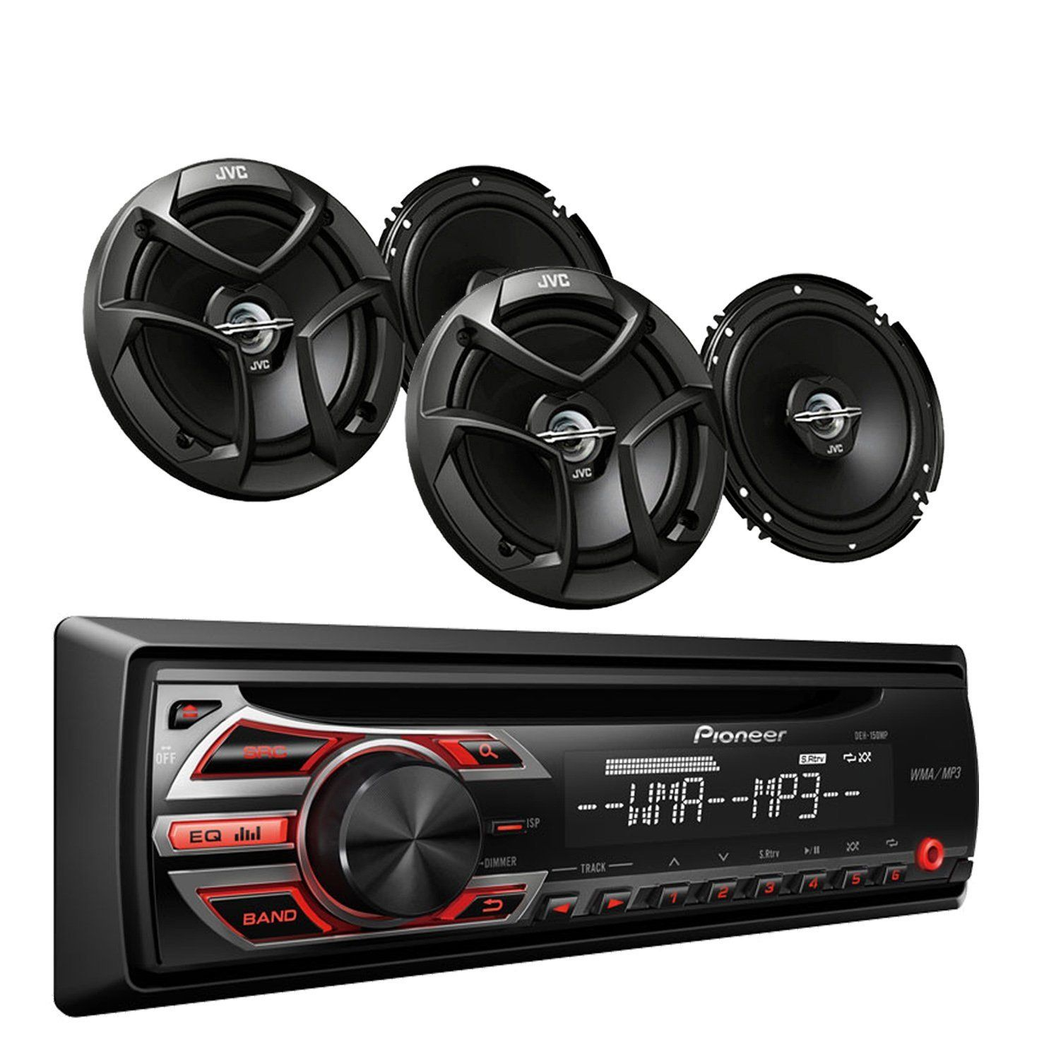 Pioneer deh 150mp car audio cd mp3 stereo radio player front aux input with