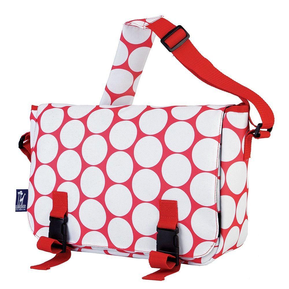 Big Dot Red & White Jumpstart Messenger Bag
