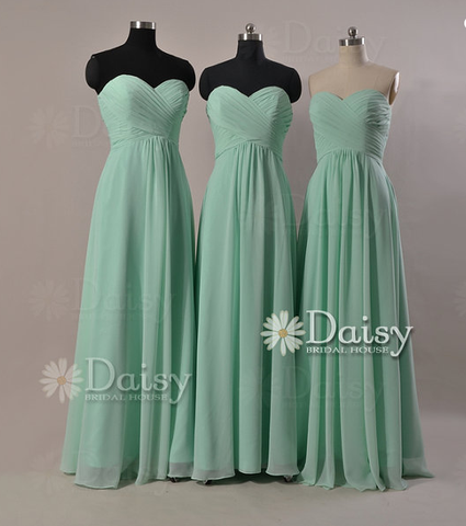 Custom Mint Chiffon Bridesmaid Dress Evening Party Daisyformals And Formal Dresses In 59 Colors