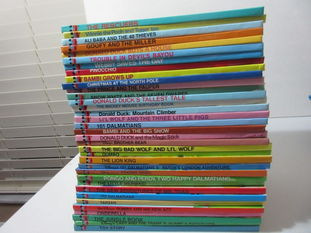 Lot Of 45 Disney Wonderful World Of Reading Books Donald Duck
