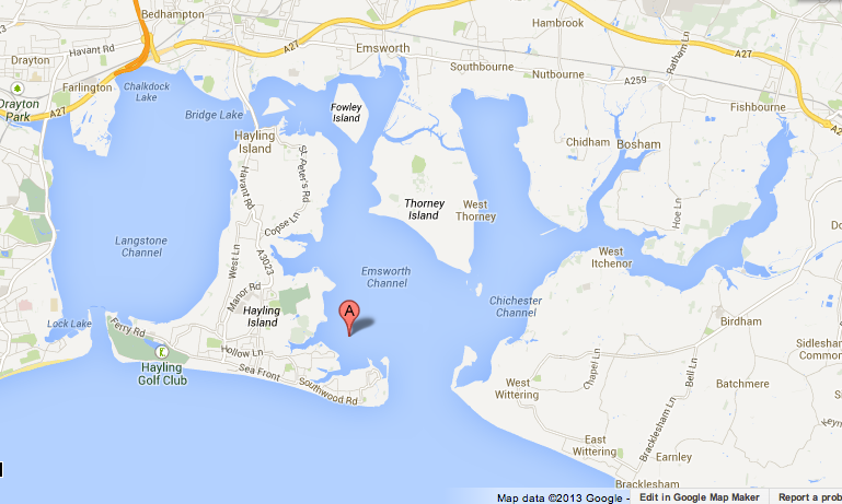 map of google maps chichester harbour Chichester, Map