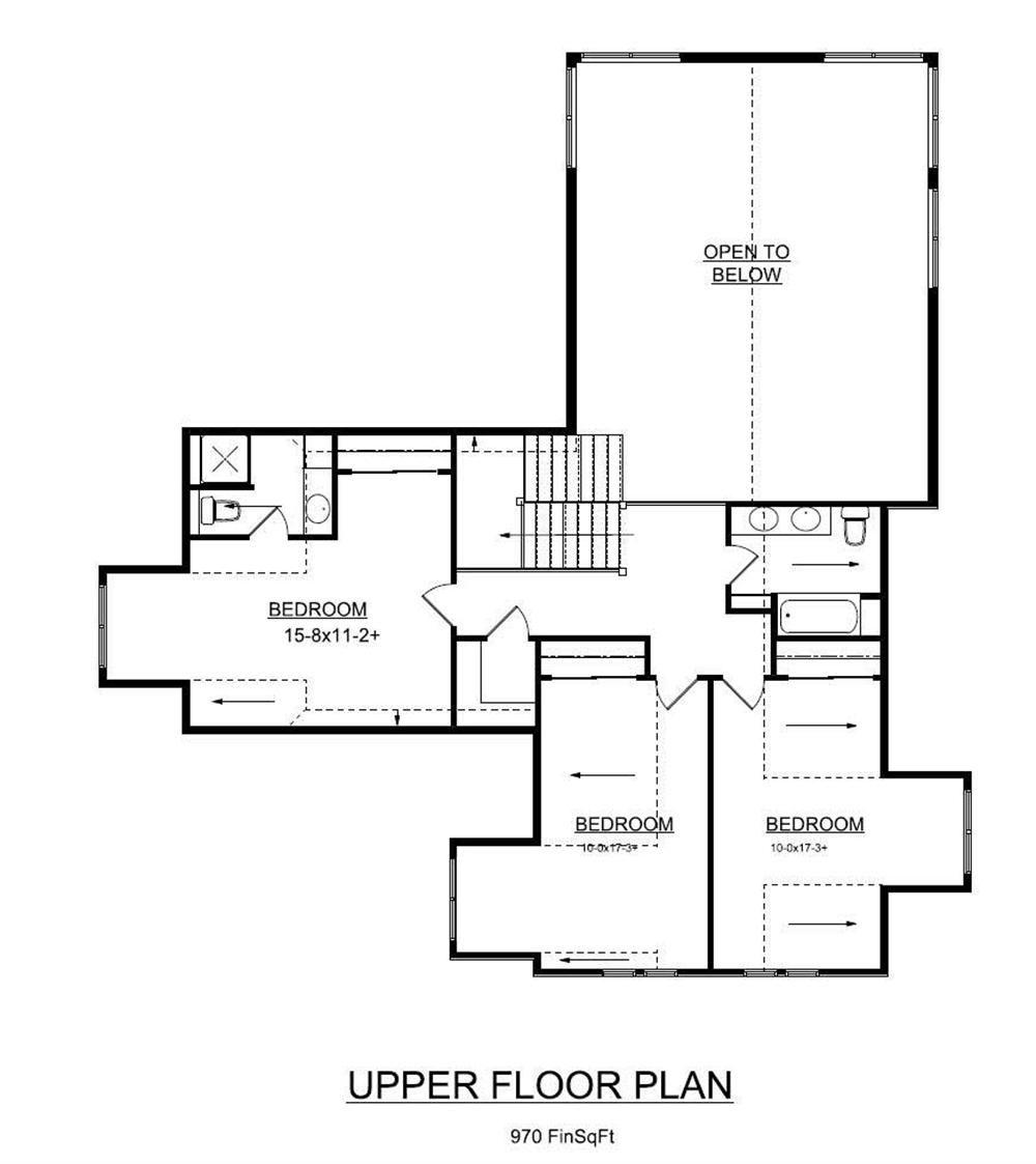 Floor Plan Second Story Floor Plans Bungalow House Plans Craftsman House Plans