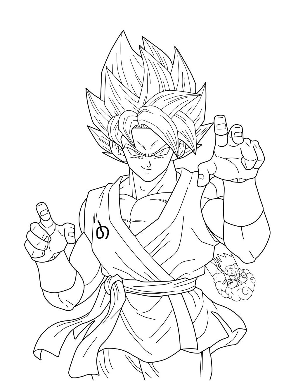 facile dragon ball broly super sayian legendaire coloriage
