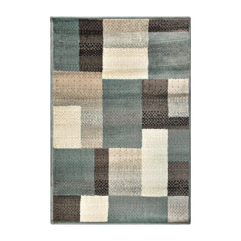 Svetlana Power Loomed Light Blue Brown Area Rug Living Room Ideas