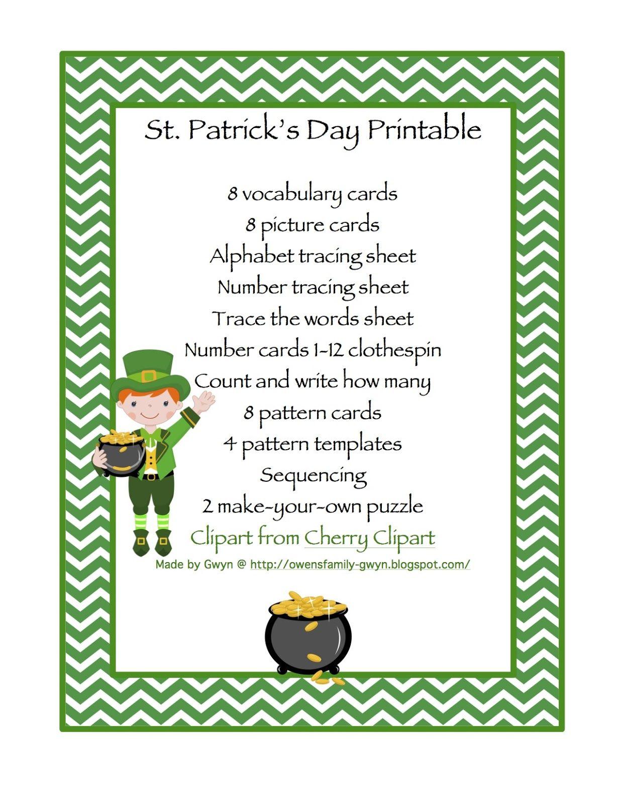 St Patricks Printable