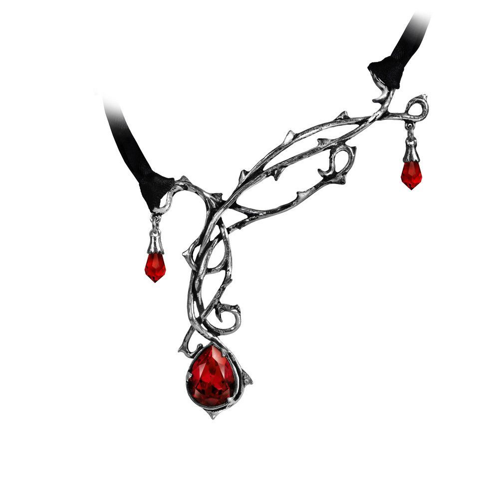 Alchemy Gothic Passion Thorns Teardrop Choker Necklace Gothic