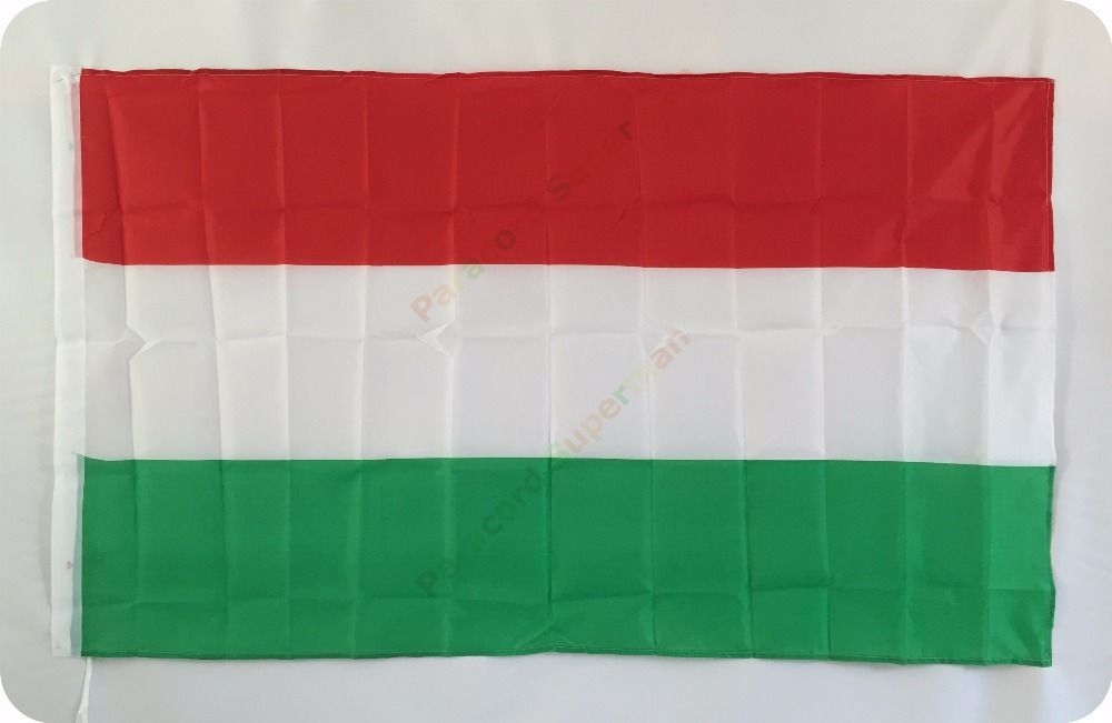 Free Shipping 3ft X 5ft Hanging Hu National Flag Hungary National Flag Banner 150x90cm For Celebration Big Flag Soccer Nation Flag Football Kits