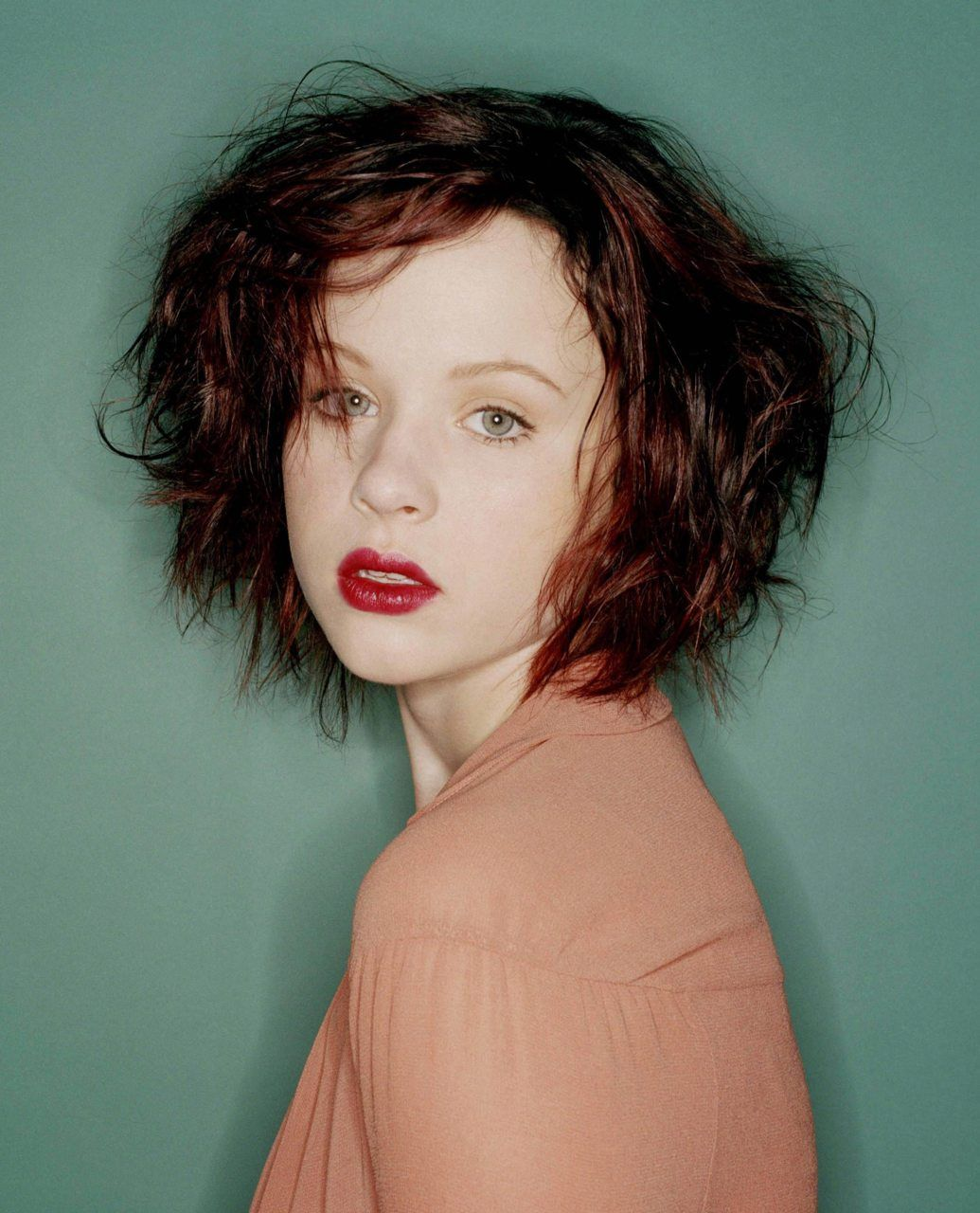 Red hair red lips pale white skinthora is irresistible female