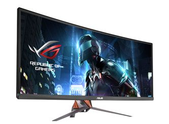 The Asus ROG Swift PG348Q is a monstrous 34-inch gaming monitor that delivers outstanding performance and is equipped with a curved screen and lots of gamer-centric features.