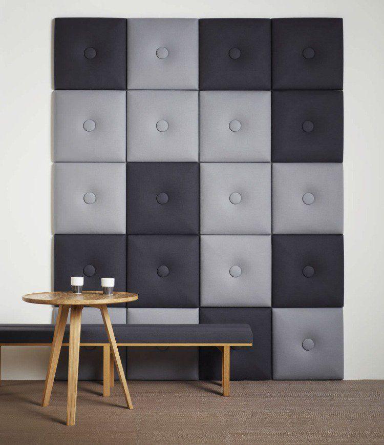 panneau acoustique d coratif en 30 designs mur et plafond pinterest. Black Bedroom Furniture Sets. Home Design Ideas