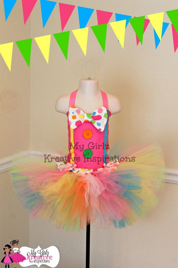 Cotton Candy Pageant Candy Land Birthday  Carnival outfit Circus Cotton Candy dress Girls 1st Birthday Outfit Cotton Candy party clown