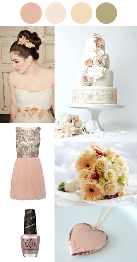 #Winter #Wedding Palettes - Rose Gold and Peach