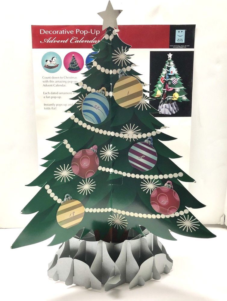 Pop-Up Christmas Tree Advent Calendar Up With Paper 3D effect New #UpWithPaper | Christmas tree ...
