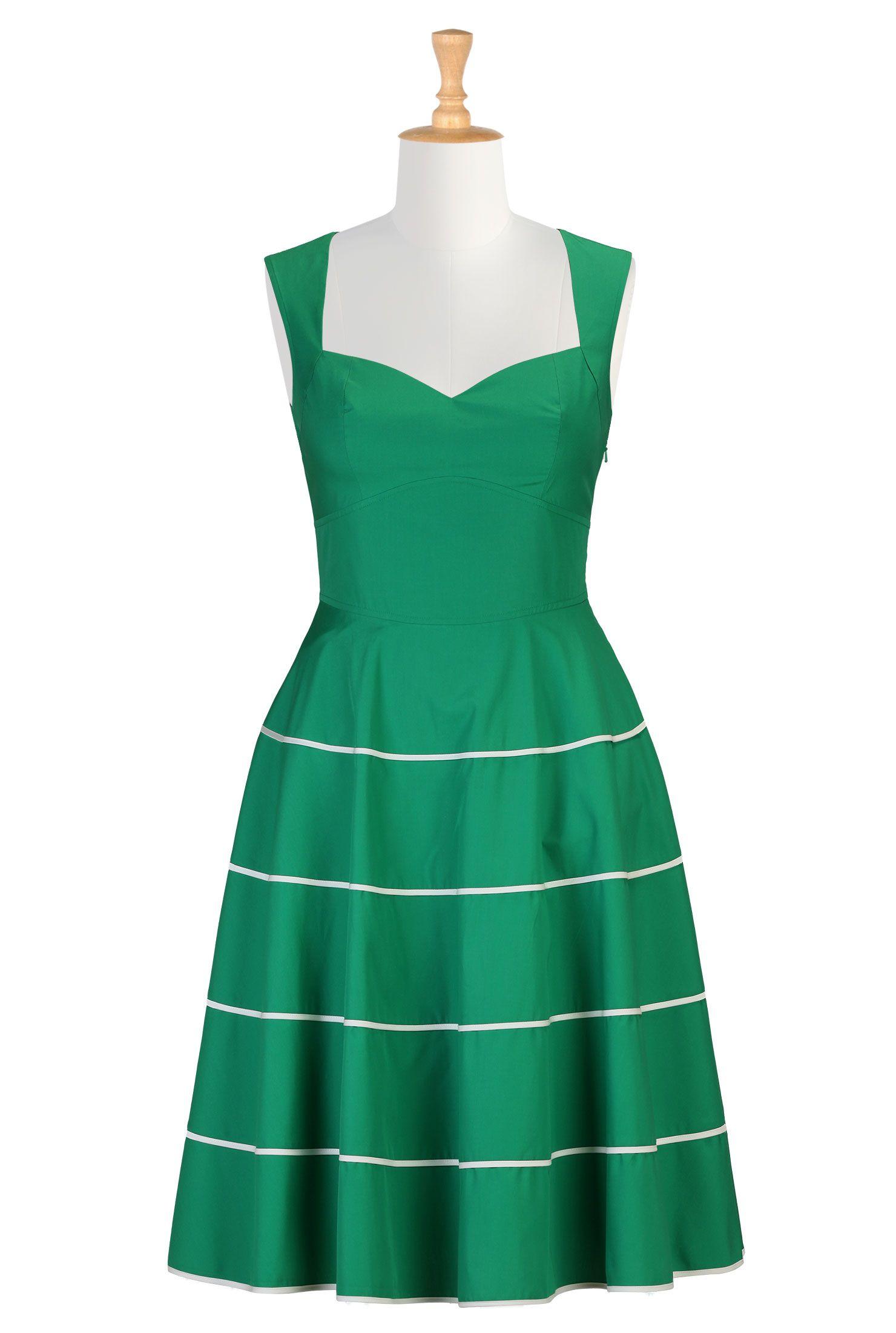 Her fifties tipped trim dress | Summer dresses, Dresses dresses and ...