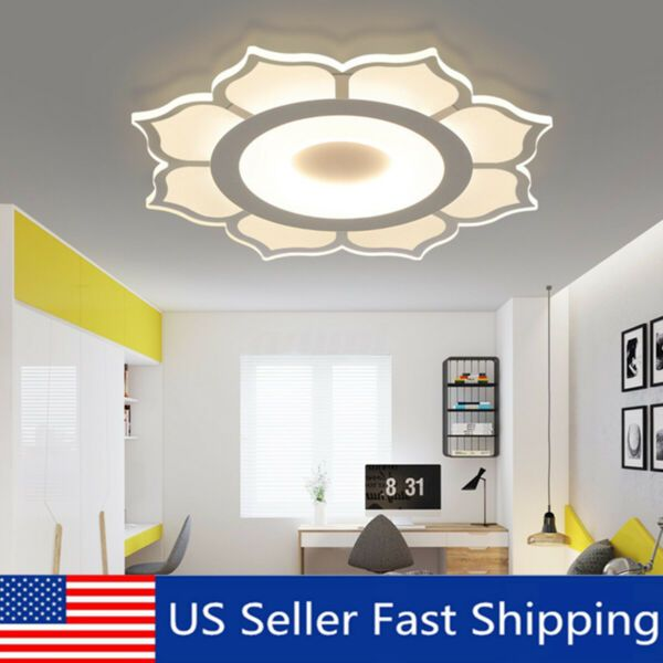 Modern Flower Acrylic Led Ceiling Light Living Room Bedroom Home Lighting Us Ceiling Lights Living Room Living Room Lighting Led Ceiling Lights