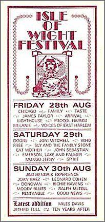 Isle Of Wight Festival Uk 08 30 1970 Handbill Vintage Concert Posters Pop Posters Isle Of Wight Festival