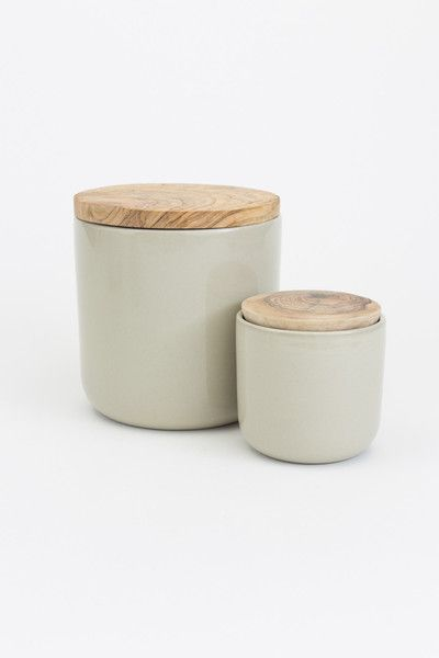 Ceramic Jar With Olive Wood Lid Handmade By Artisans In Tunisia. These  Simple Storage Jars Are An Invaluable Addition To Any Kitchen.