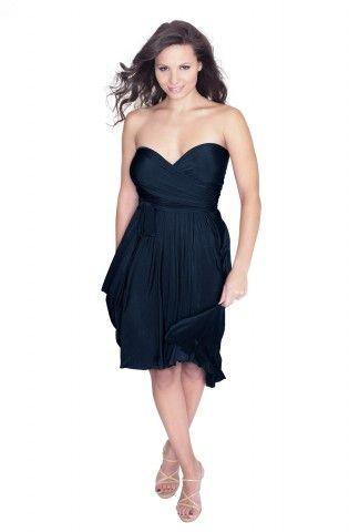 Sakura Navy Blue Midi Convertible Dress