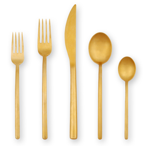 Due Ice Oro Flatware Collection