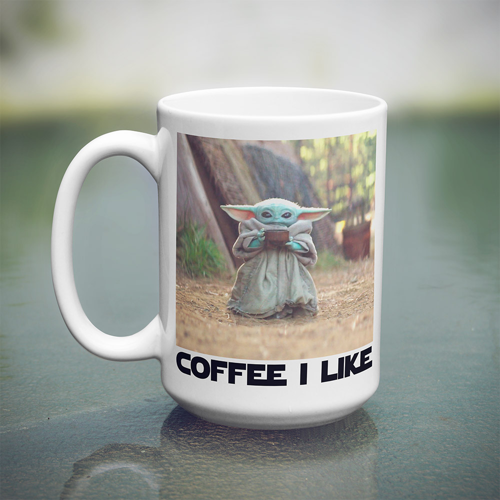Baby Yoda Mug 15 oz The Wholesale TShirt Co Mugs