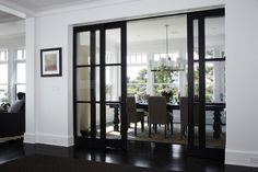 Examples Open Concept Homes Using Steel Gl Pocket Doors Internal Sliding Double