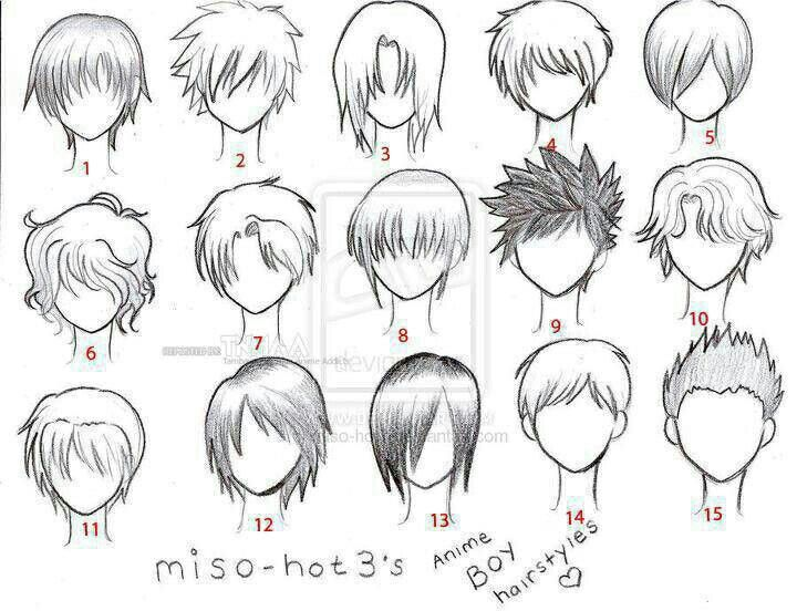 Anime Hair Boy Template