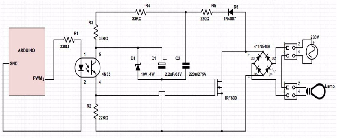 Arduino lamp dimmer - The best pwm dimmer tutorial in 2019 ... on switch schematic, diode schematic, smps schematic, relay schematic, mosfet schematic, capacitor schematic, transistor schematic, integrated circuit schematic, sensor schematic, vfd schematic, lcd schematic, inductor schematic, cpu schematic, power supply schematic, rectifier schematic, battery schematic, led schematic, plc schematic,