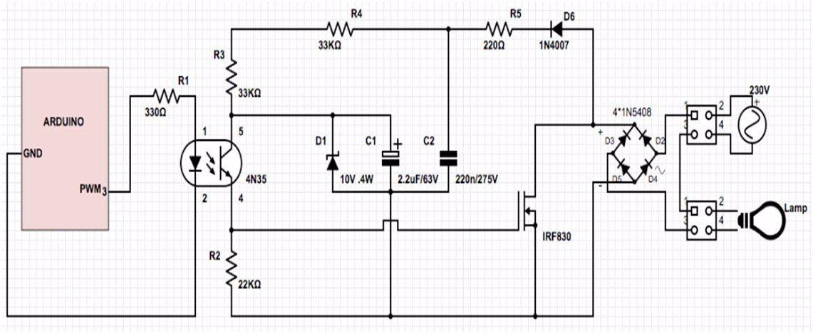 Arduino Lamp Dimmer The Best Pwm Dimmer Tutorial Arduino Dimmer Arduino Projects