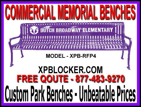 Commercial Memorial Park Benches Sale Free Quote 877 483 9270
