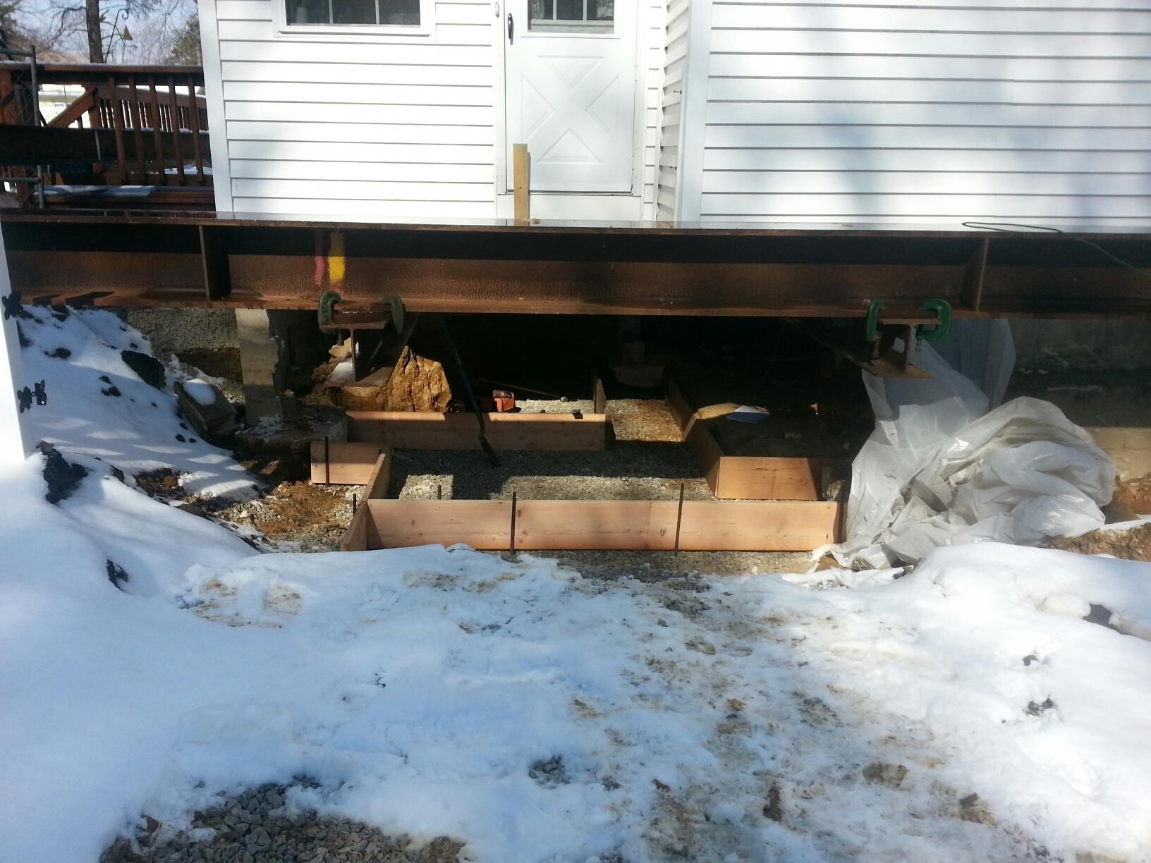 After clean up, and level ground, new foundation for residence  #meridianenvironmental #foundation #house #home #nj