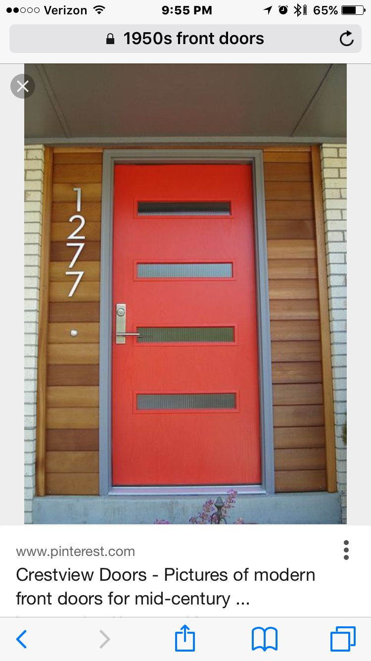 mid century modern front doors. House Numbers And Door Crestview Doors - Pictures Of Modern Front For Mid-century Houses, Ranch Homes, Retro Ramblers, Post-war Bungalows Mid Century