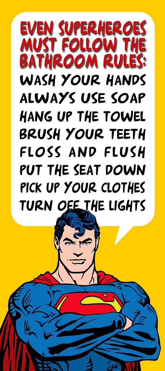 Kids Bathroom Decor Superman