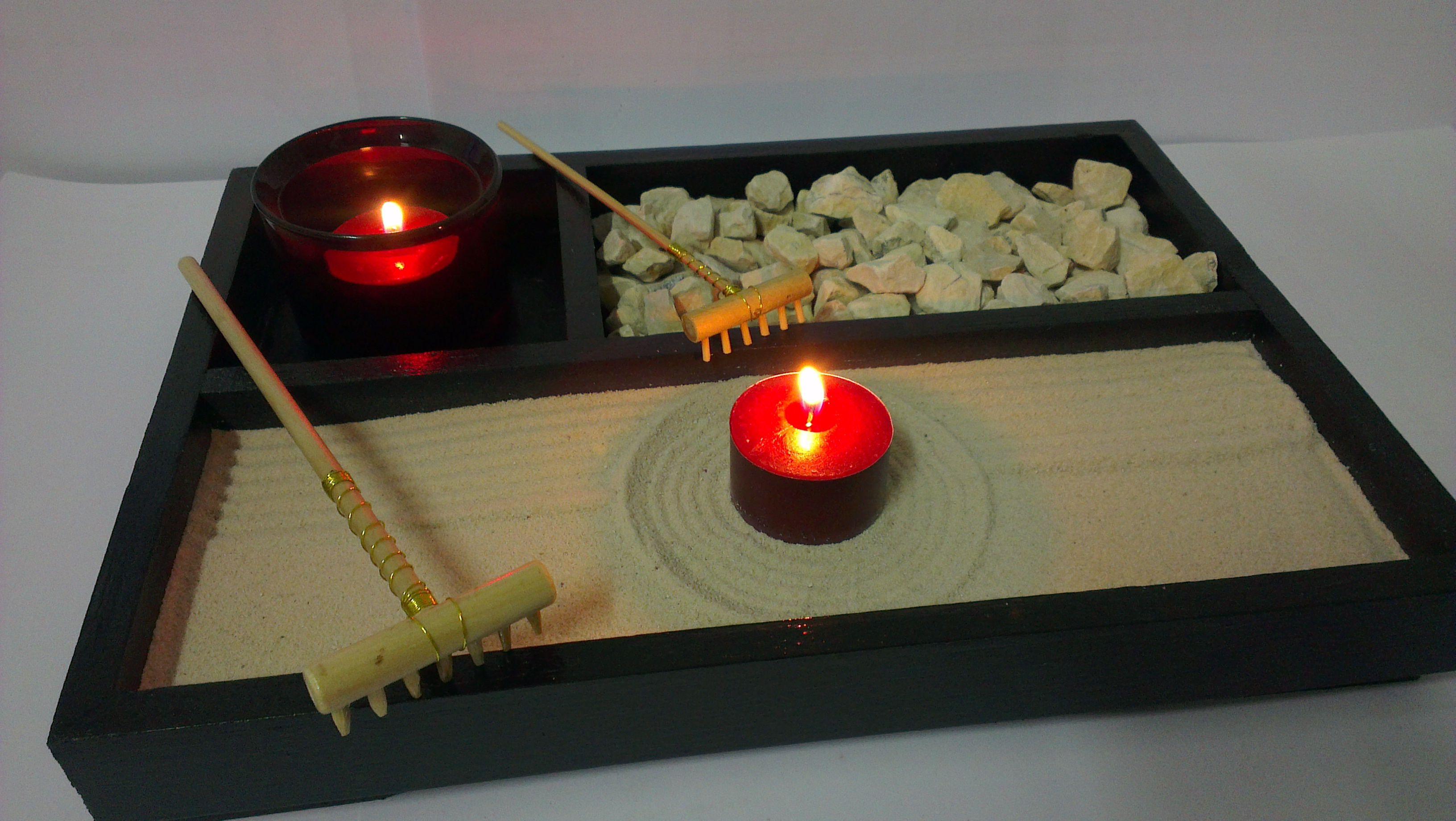 Mini Sandbox Miniature Zen Garden Zen Garden Tea Lights