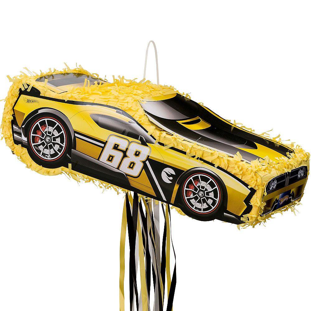 Pull String Yellow Race Car Pinata Hot Wheels Birthdays Pinterest