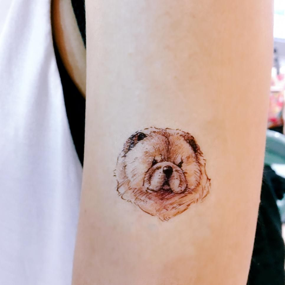 Mongrel Mixed Breed Dog Puppy Tattoo Dog Tattoos Small Tattoos